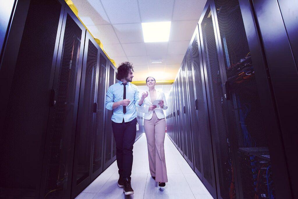 IT Professionals at Data Center